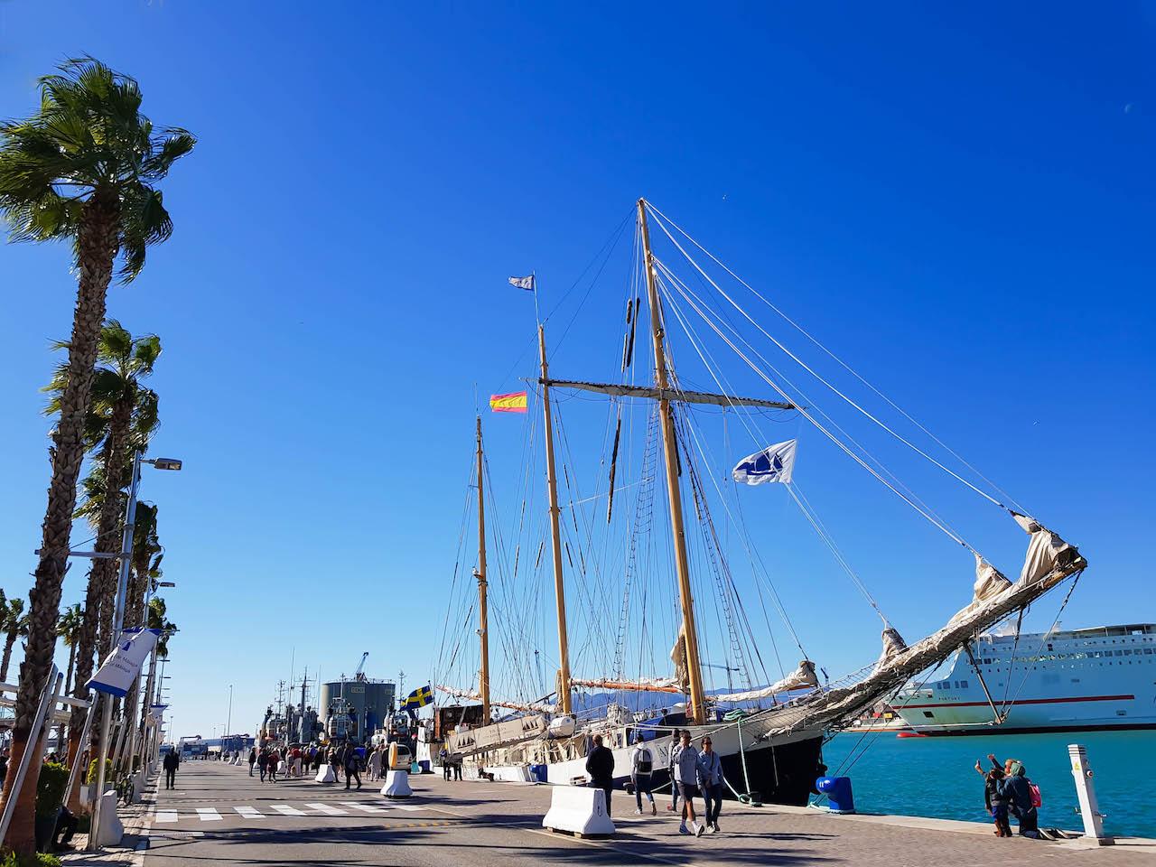 Maritimes Flair in Málaga.