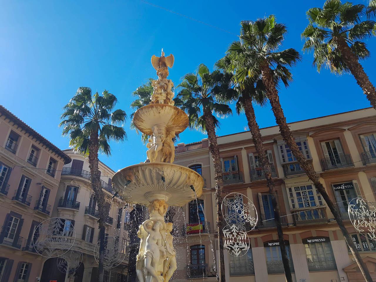 Brunnen in Malaga.