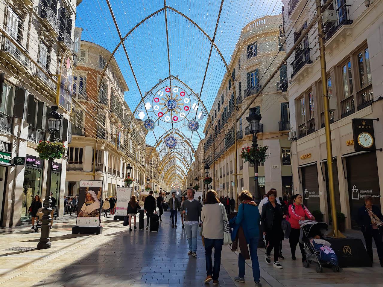 Innenstadt von Malaga.