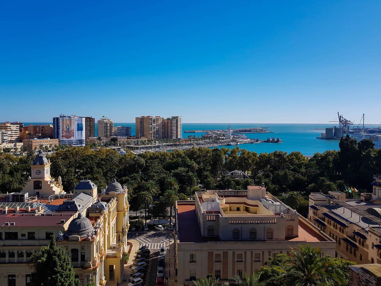 Aussicht in Malaga.