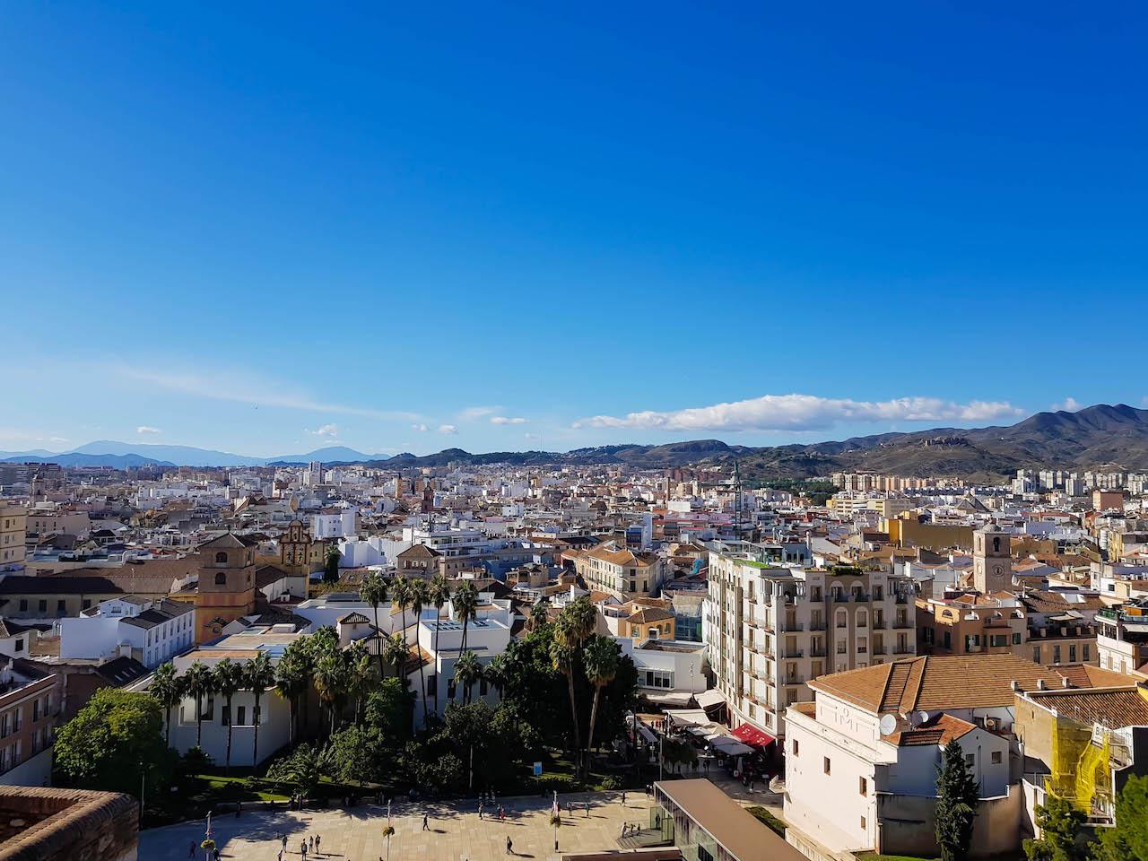 Málaga von oben.