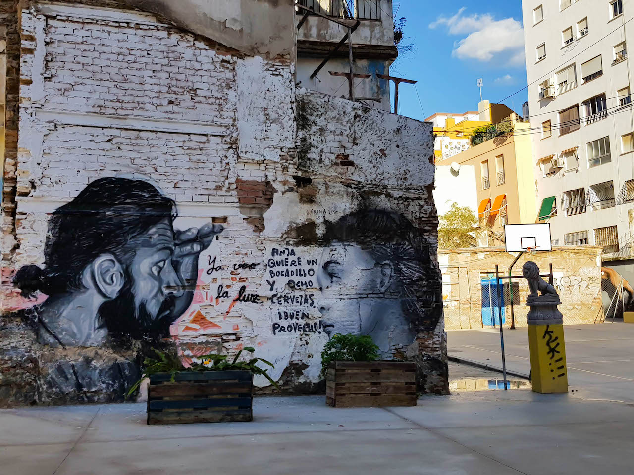 Wandmalerei im Viertel Las Lagunillas.