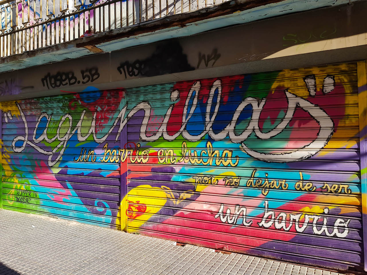Streetart im Viertel Las Lagunillas.