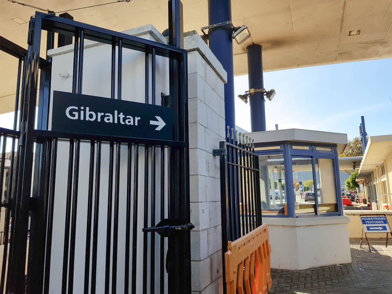Grenzübergang von Spanien nach Gibraltar.
