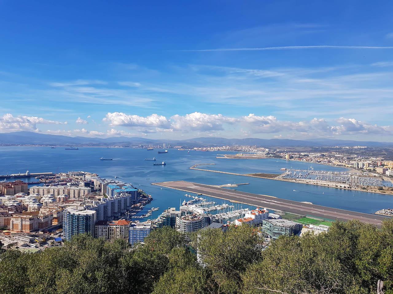Ausblick vom Gibraltar Felsen.