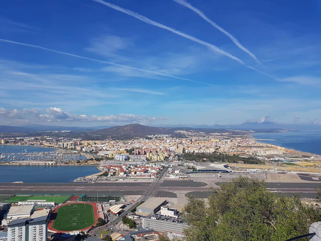 Sicht auf La Línea de la Concepción.