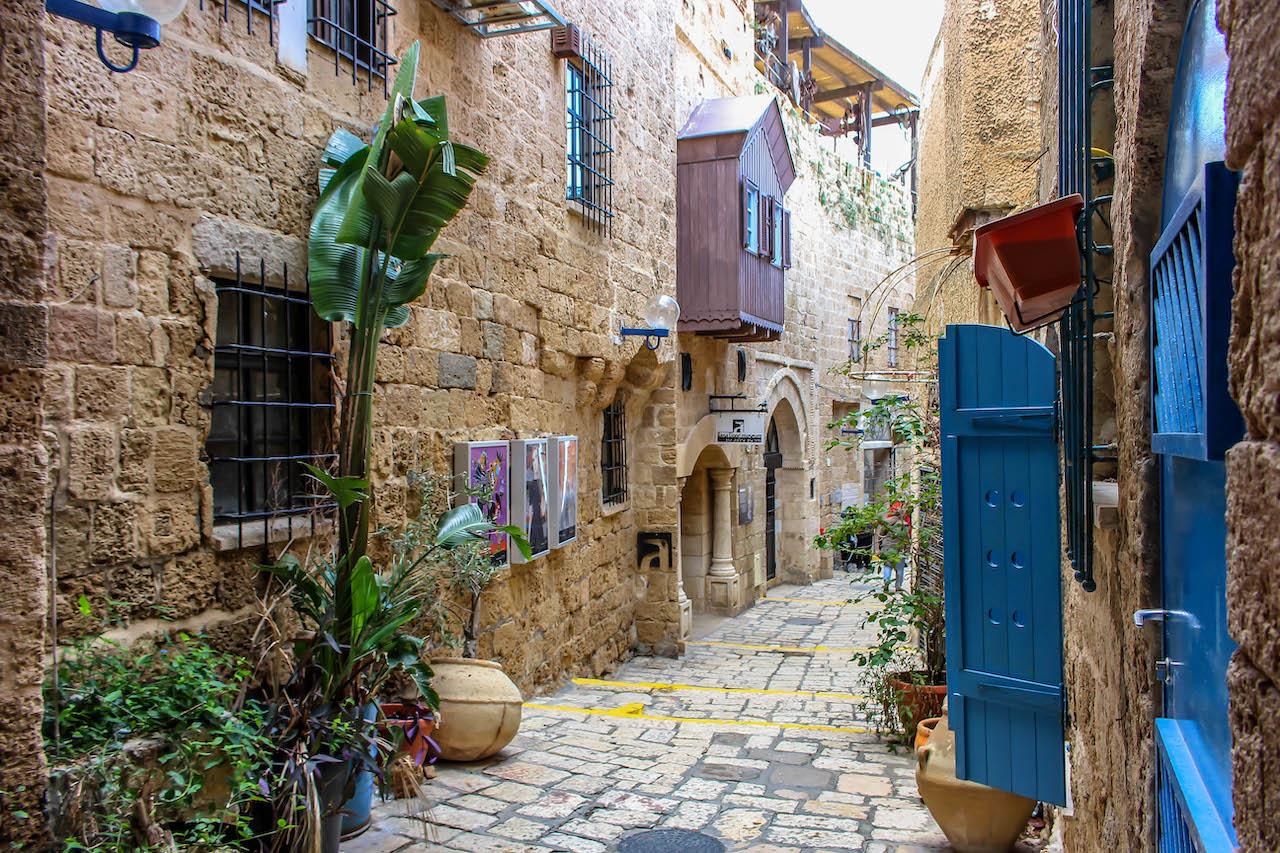 In Jaffa reiht sich Galerie an Galerie.
