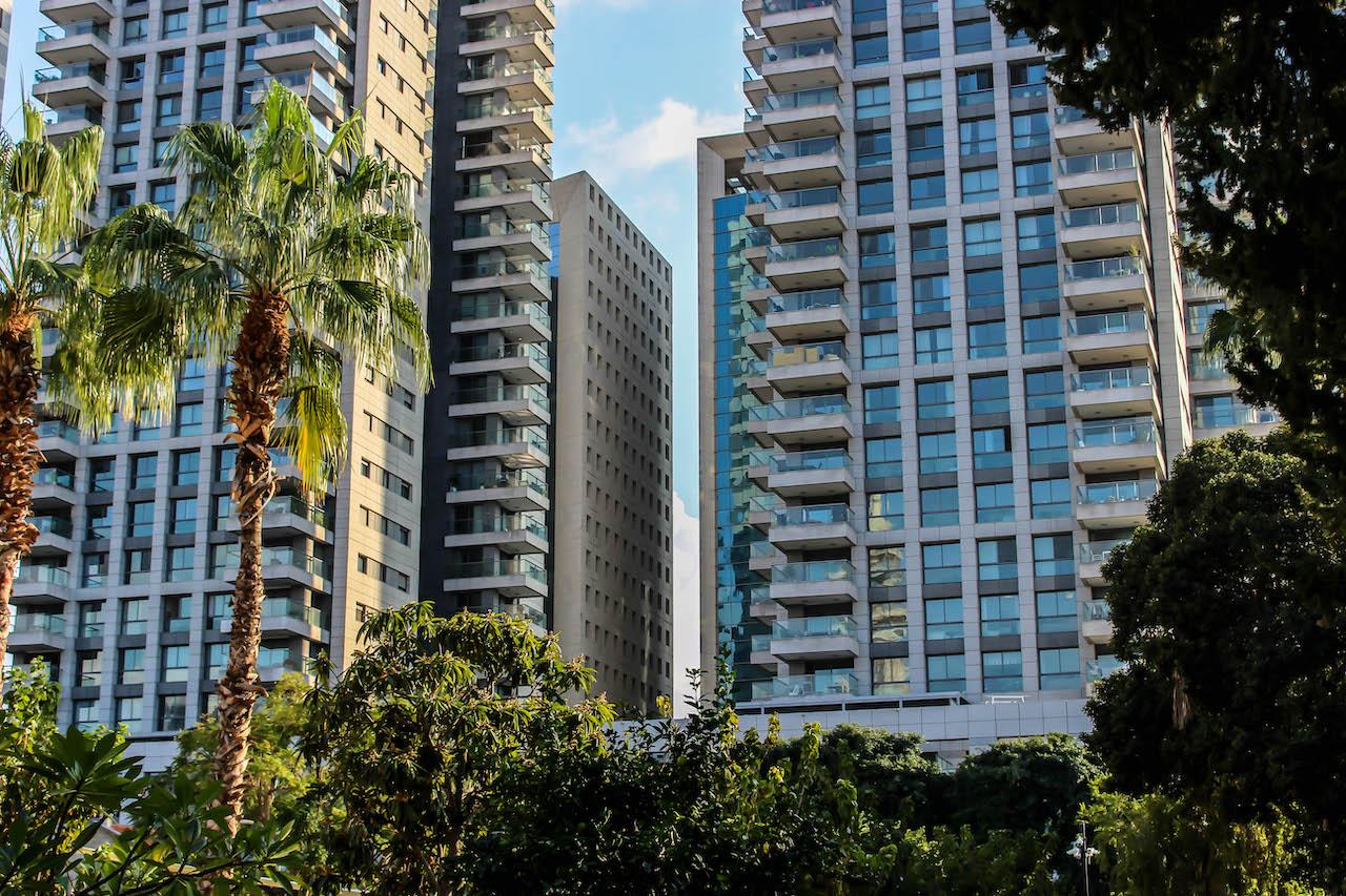 Hochhäuser in Sarona, Tel Aviv.