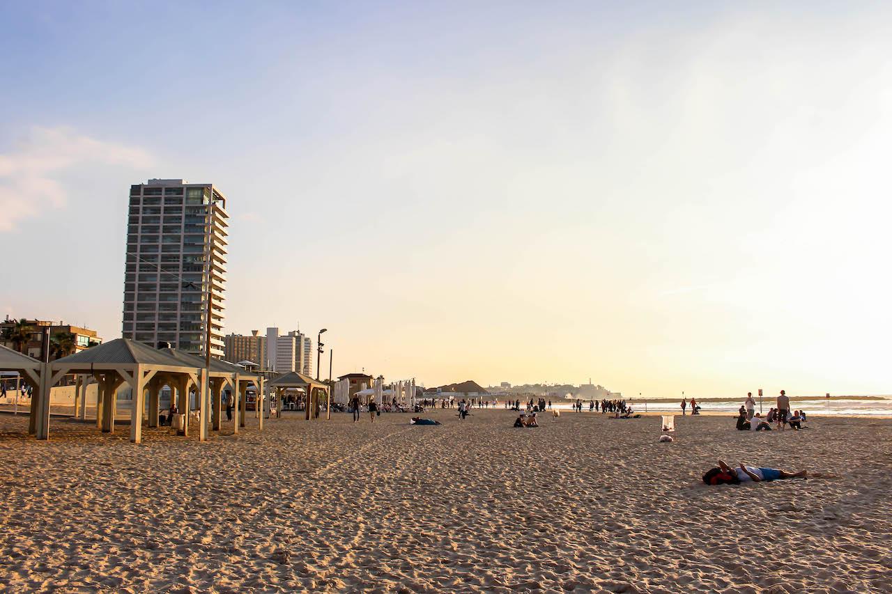 Strandleben in Tel Aviv.