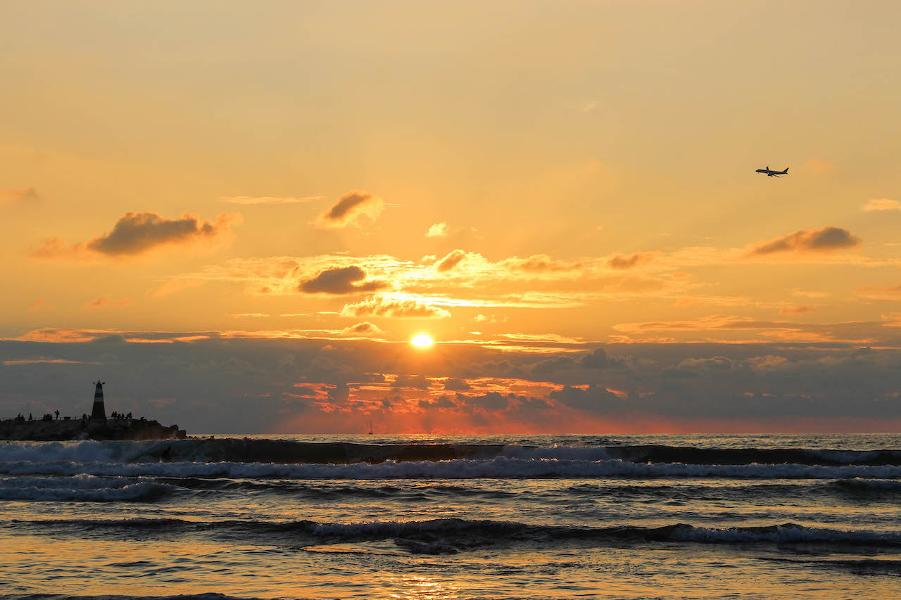 Sonnenuntergang in Tel Aviv.