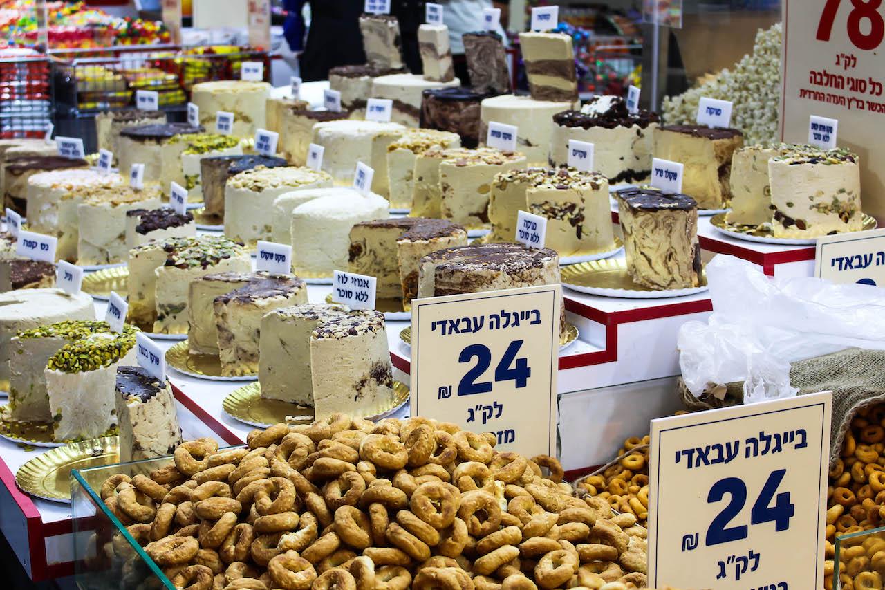 Angebot auf dem Mahane Yehuda Markt.