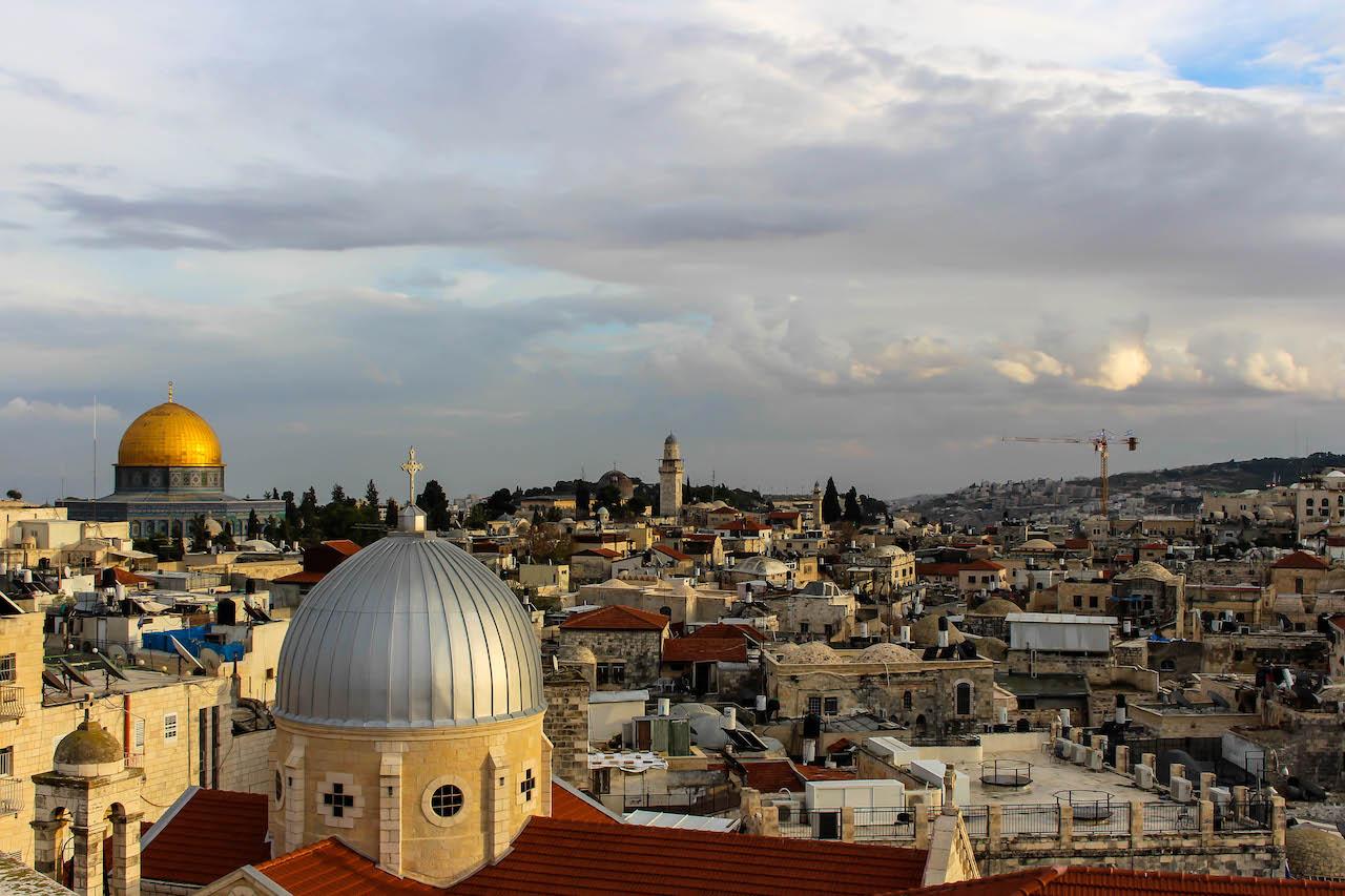 Der Blick über die Altstadt von Jerusalem.