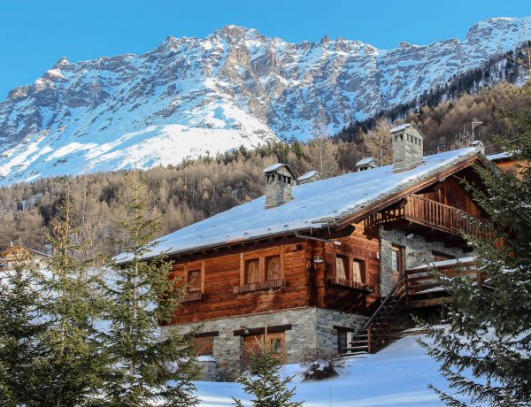 Hütte im Aostatal, Italien.