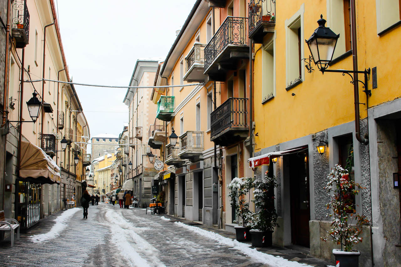 Winter in Aosta.