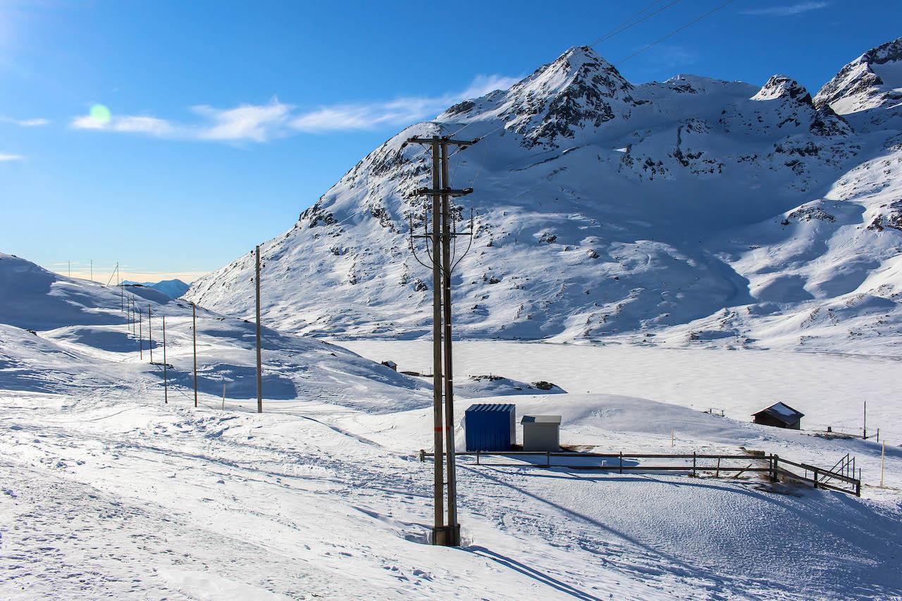Der Lago Bianco ist auch im Winter wunderschön!