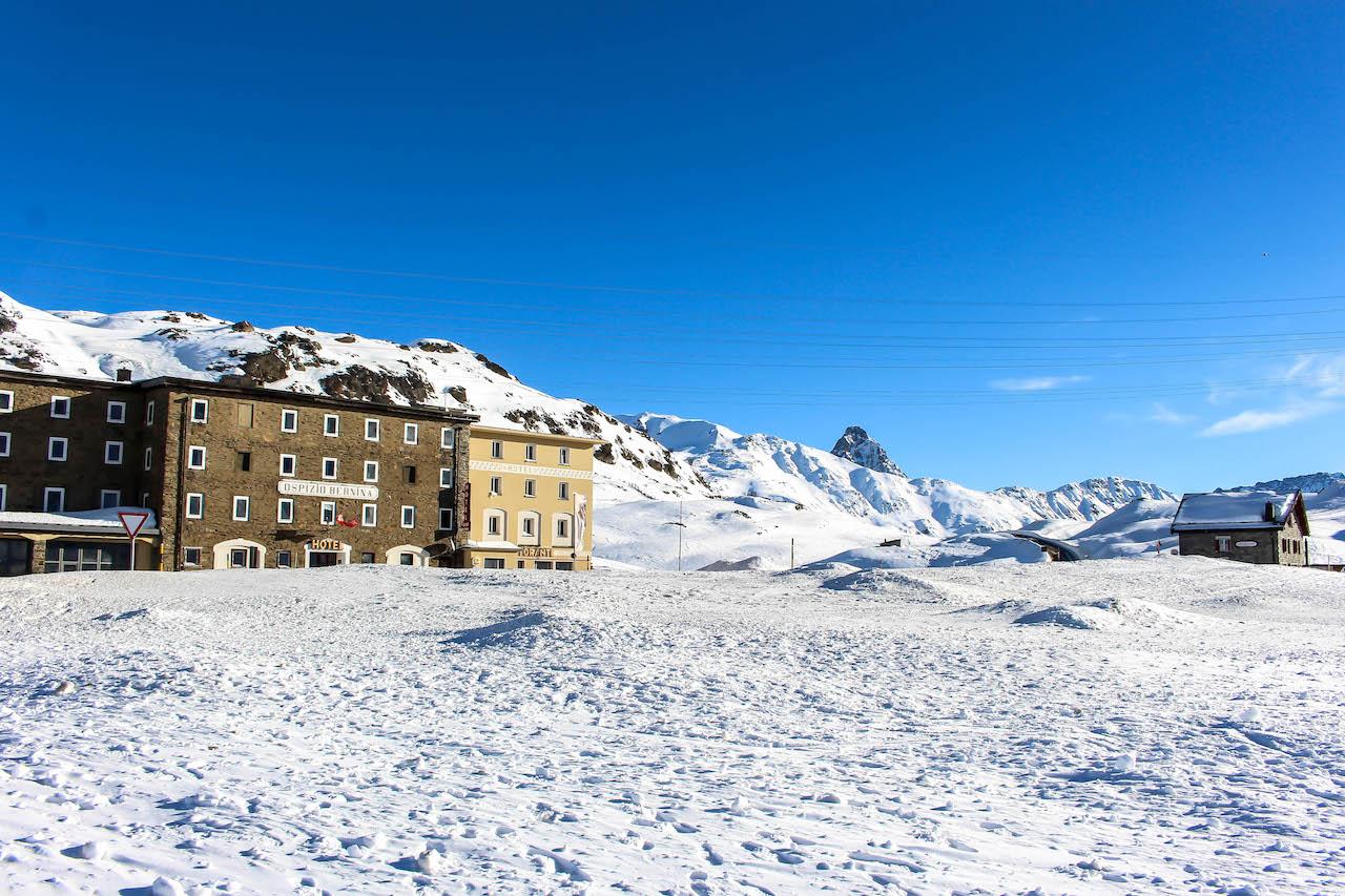 Das Bernina Hospiz auf über 2000 Metern Höhe.