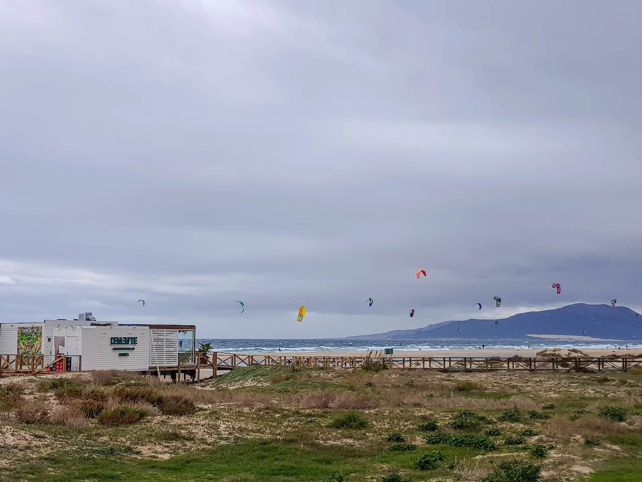 Kitesurfer in Tarifa.