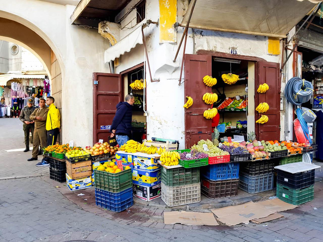 Bananen auf dem Souk von Tanger.