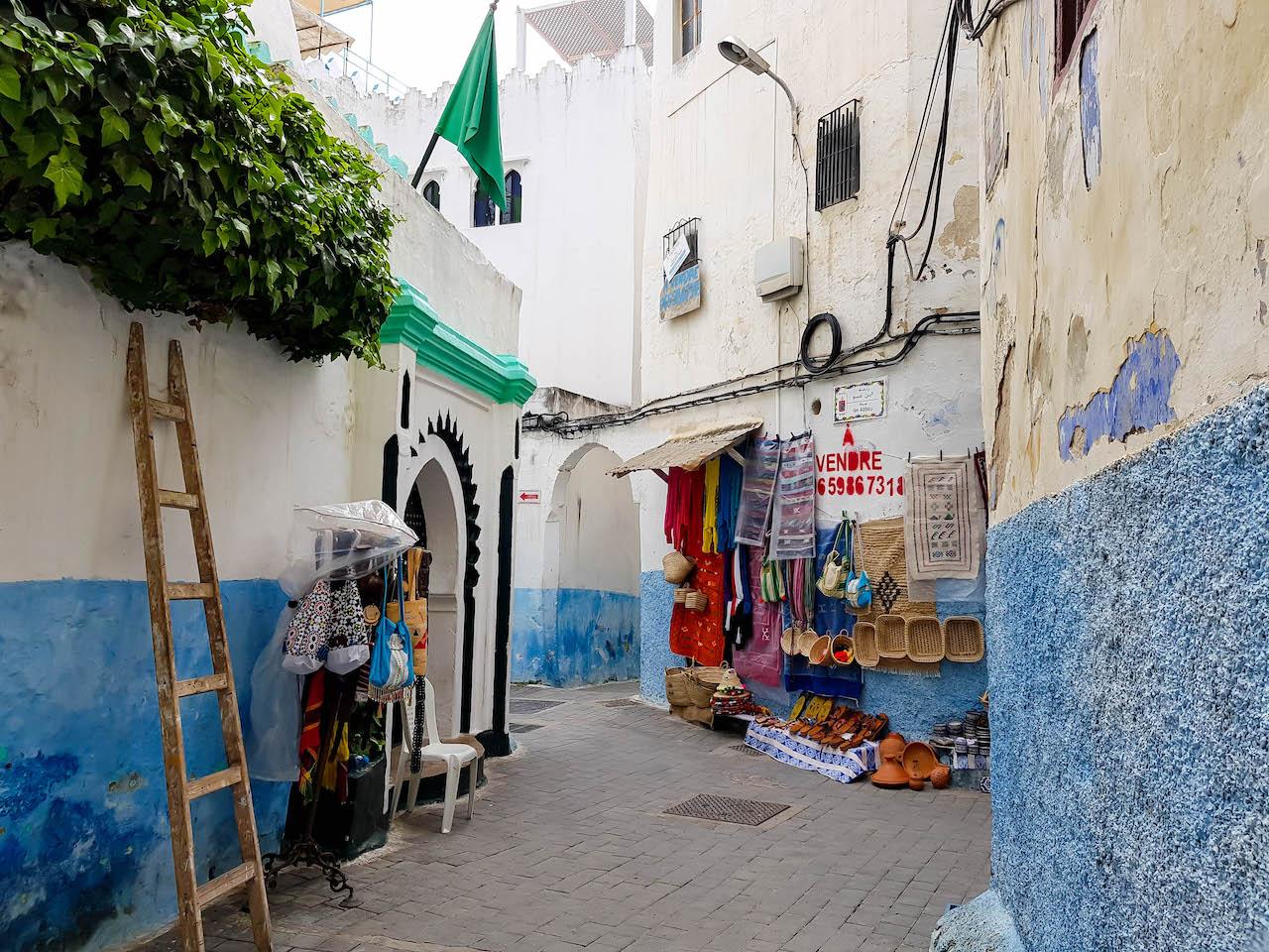 Strasse in der Kasbah von Tanger.