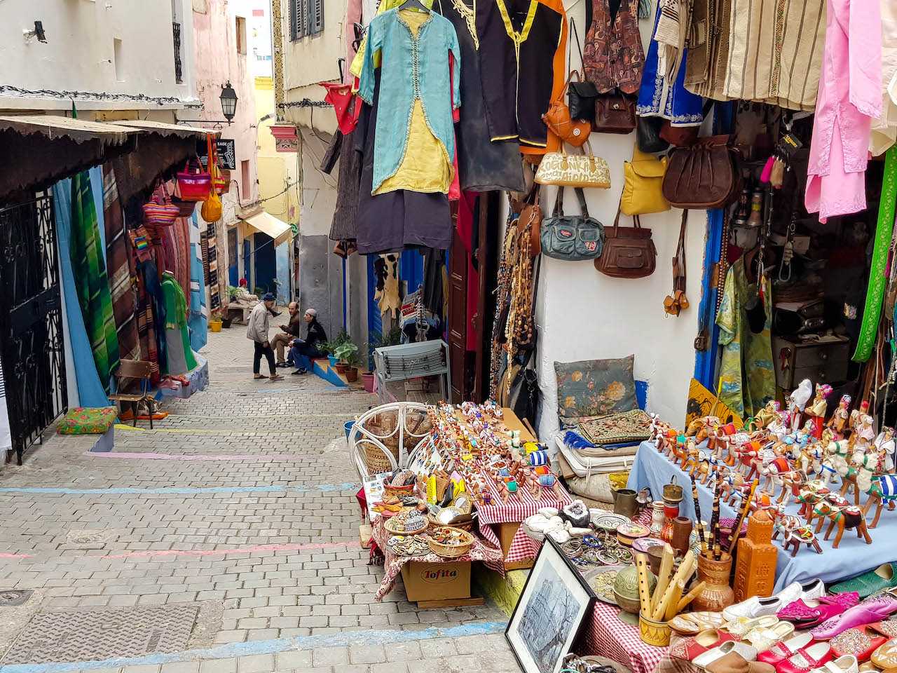 Strasse im Souk von Tanger.