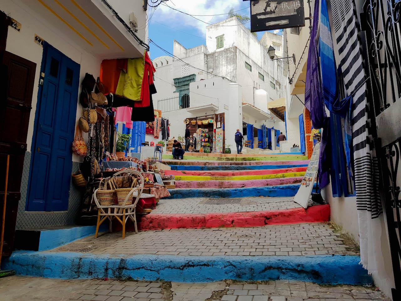 Über die Märkte von Tanger schlendern....
