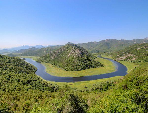 Sicht in Rijeka Crnojevića.