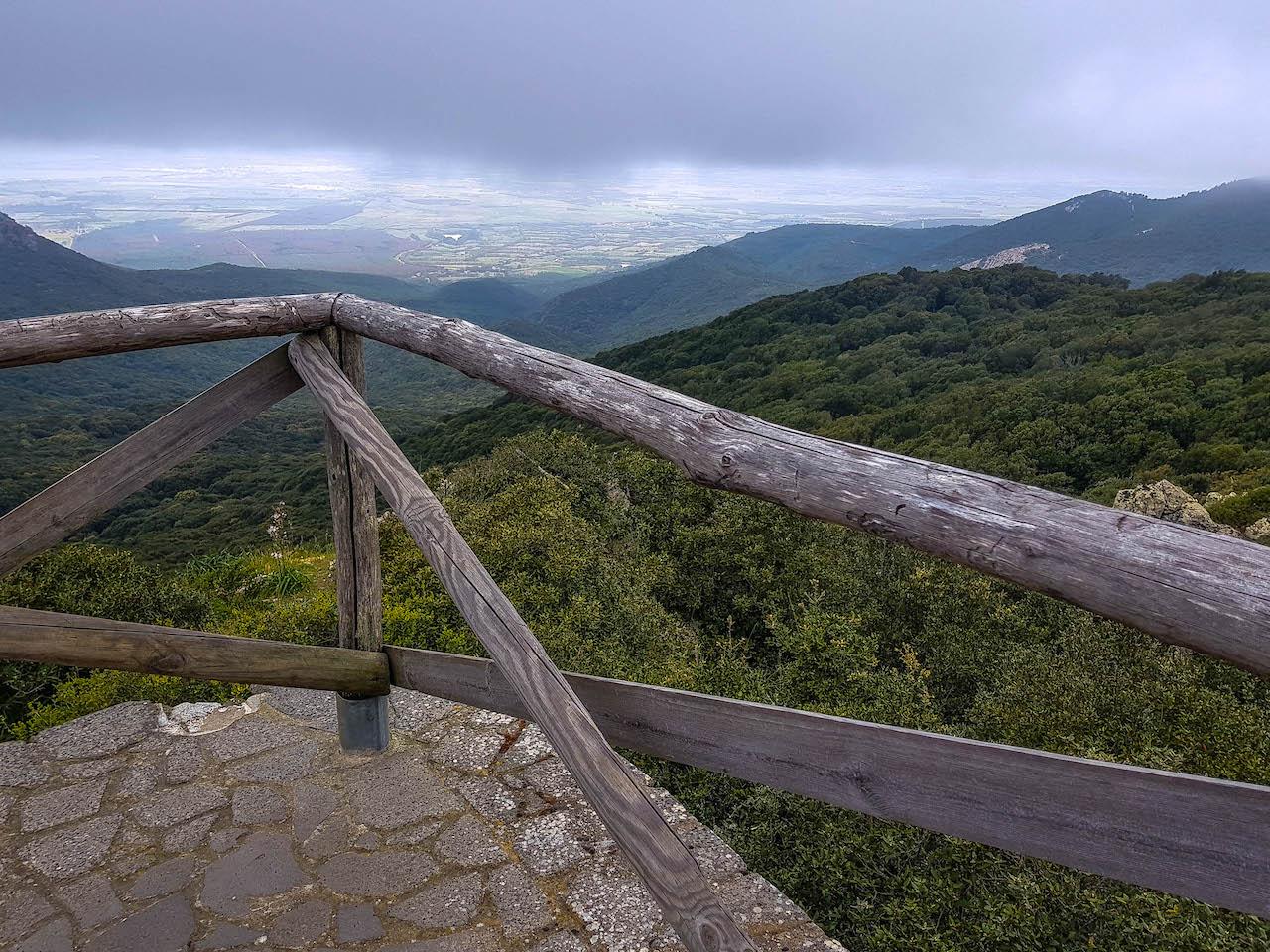 Aussichtspunkt im Nationalpark Monte Arci.