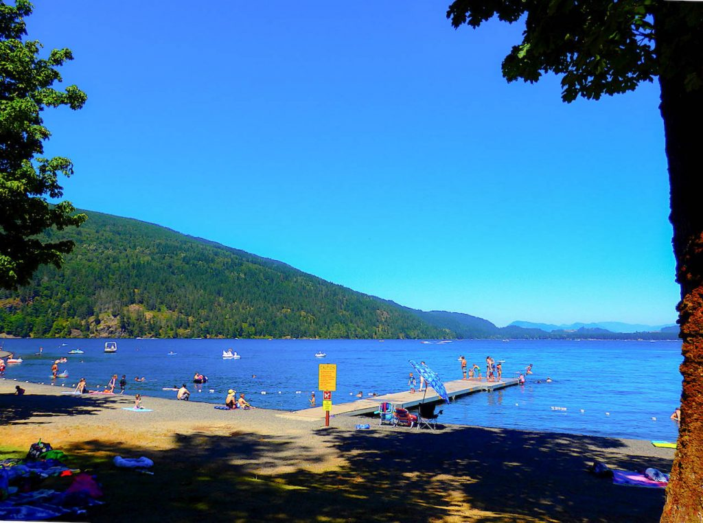 Der Cultus Lake in Kanada.