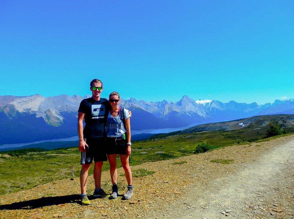 Michi und Krissi im Jasper Nationalpark.