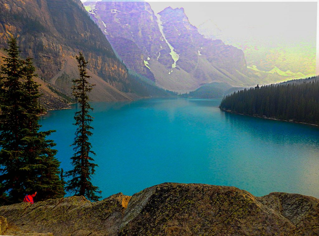 Moraine Lake in Kanada.