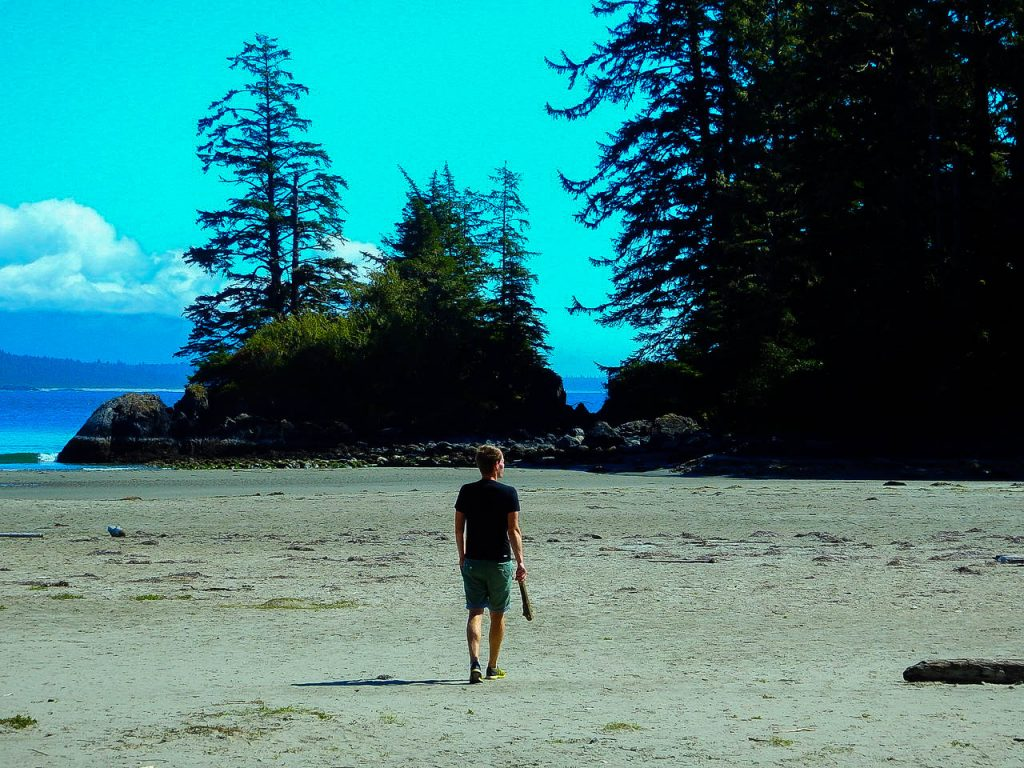 Am Strand in Tofino.
