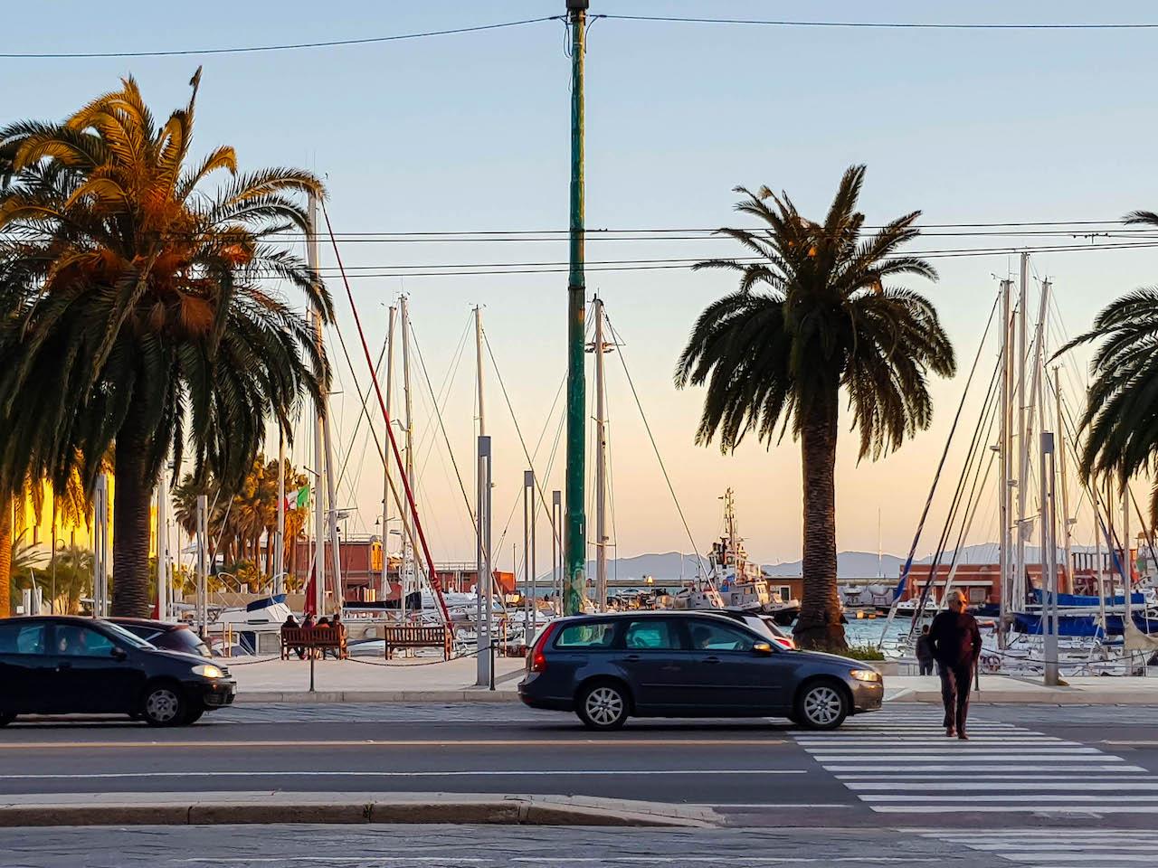 Abendstimmung in Cagliari.