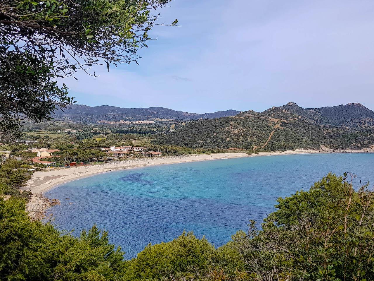 Der Strand von Villasimius.