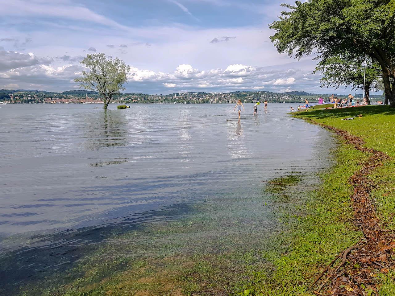 Strandbad Dingelsdorf am Bodensee.