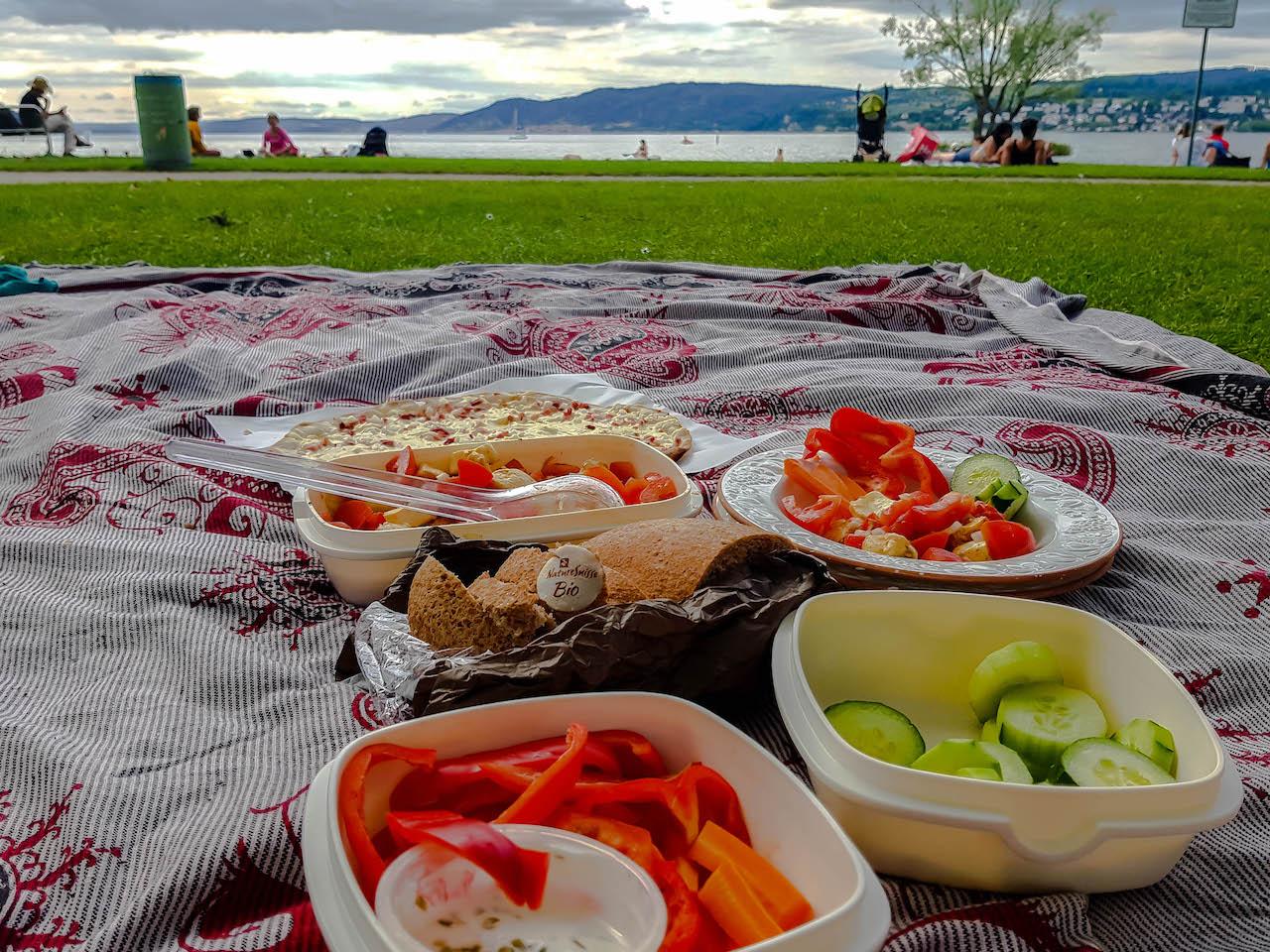 Picknick am Bodensee.