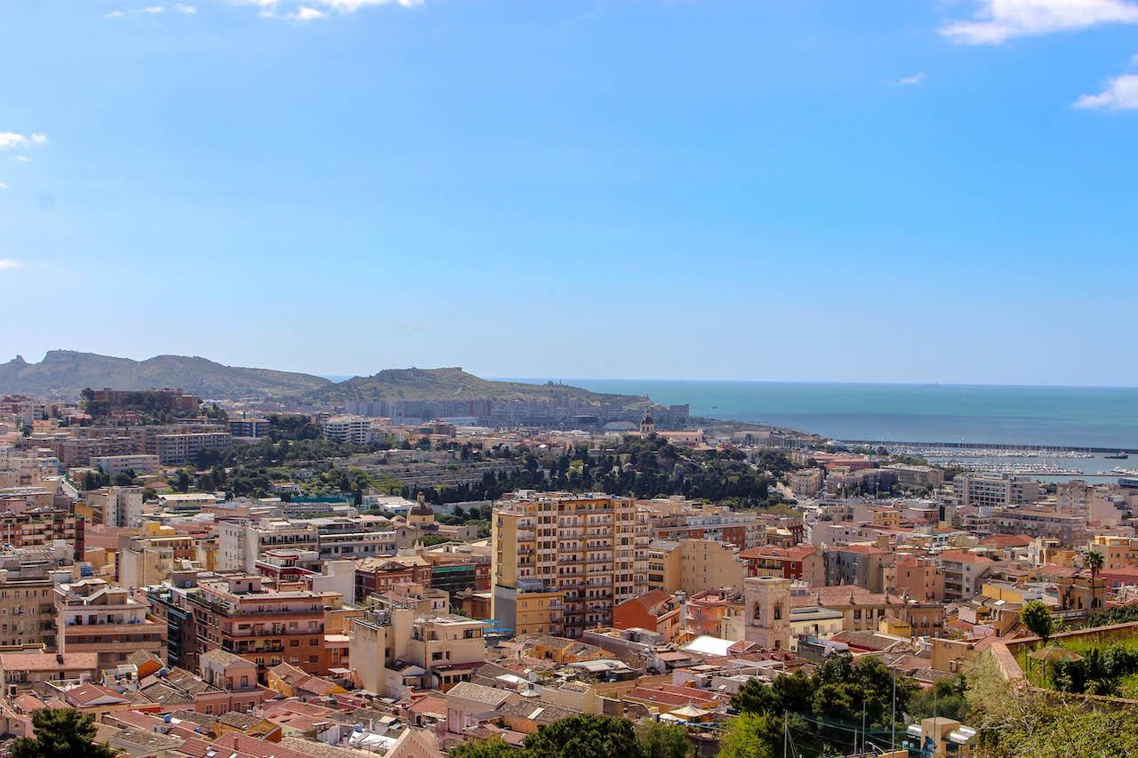 Cagliari von oben.