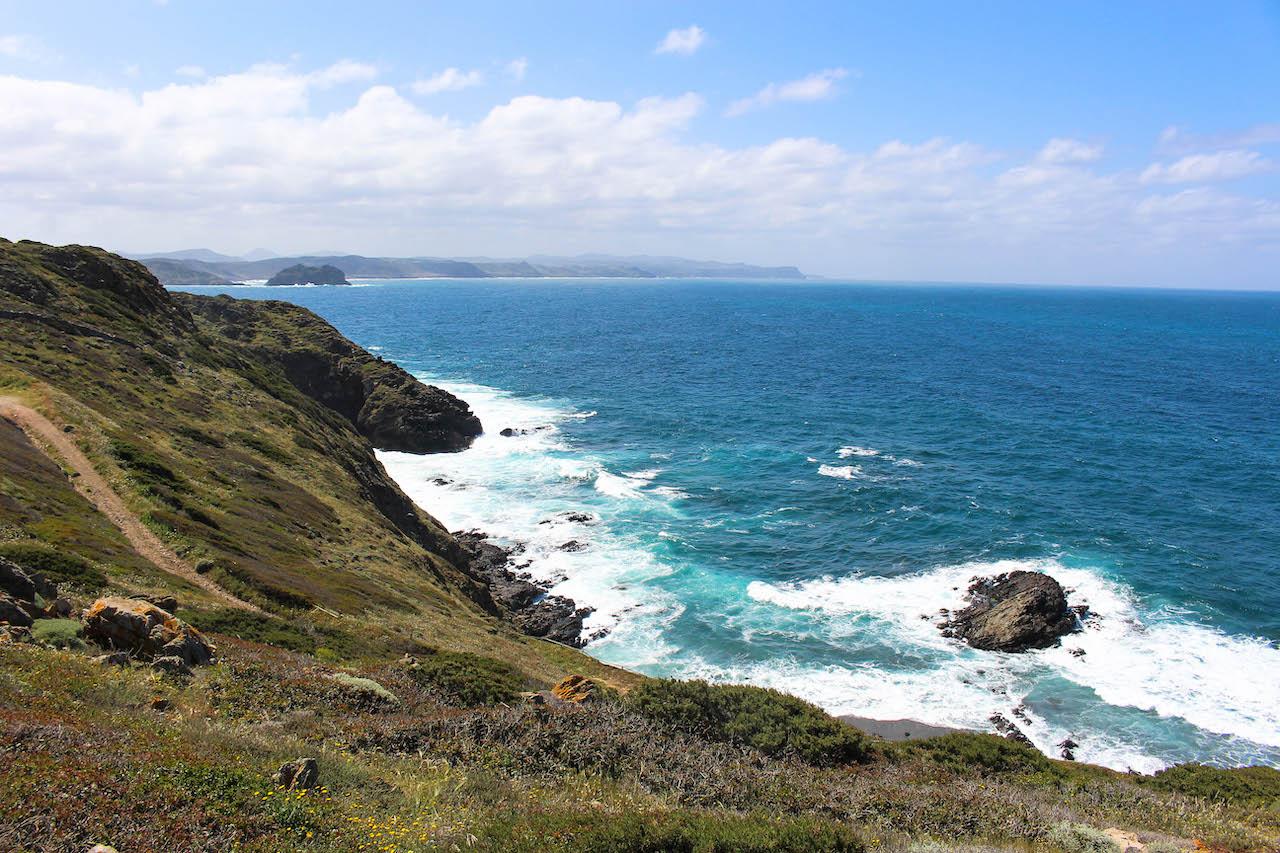Weg zum Strand Punta su Turrone.