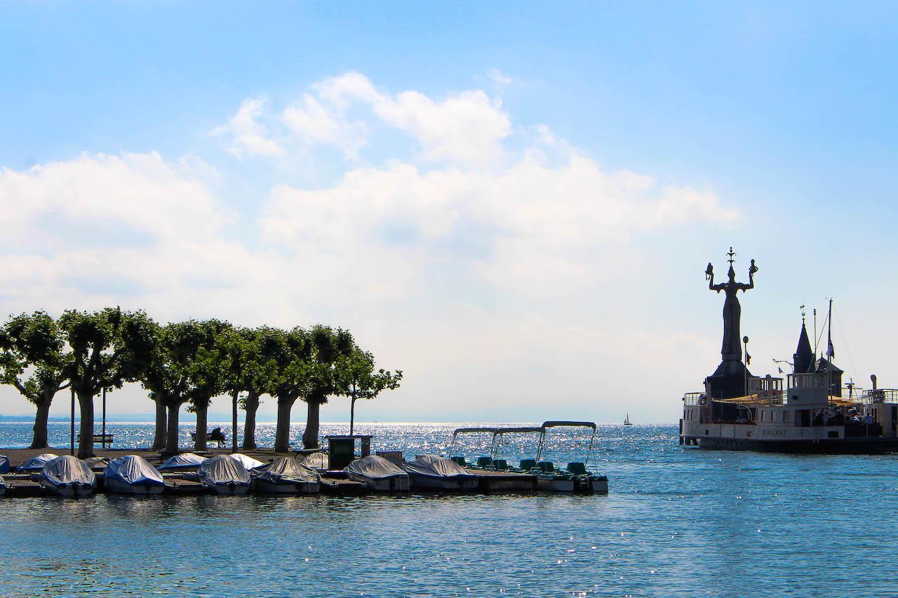 Der Hafen von Konstanz mit der Imperia.