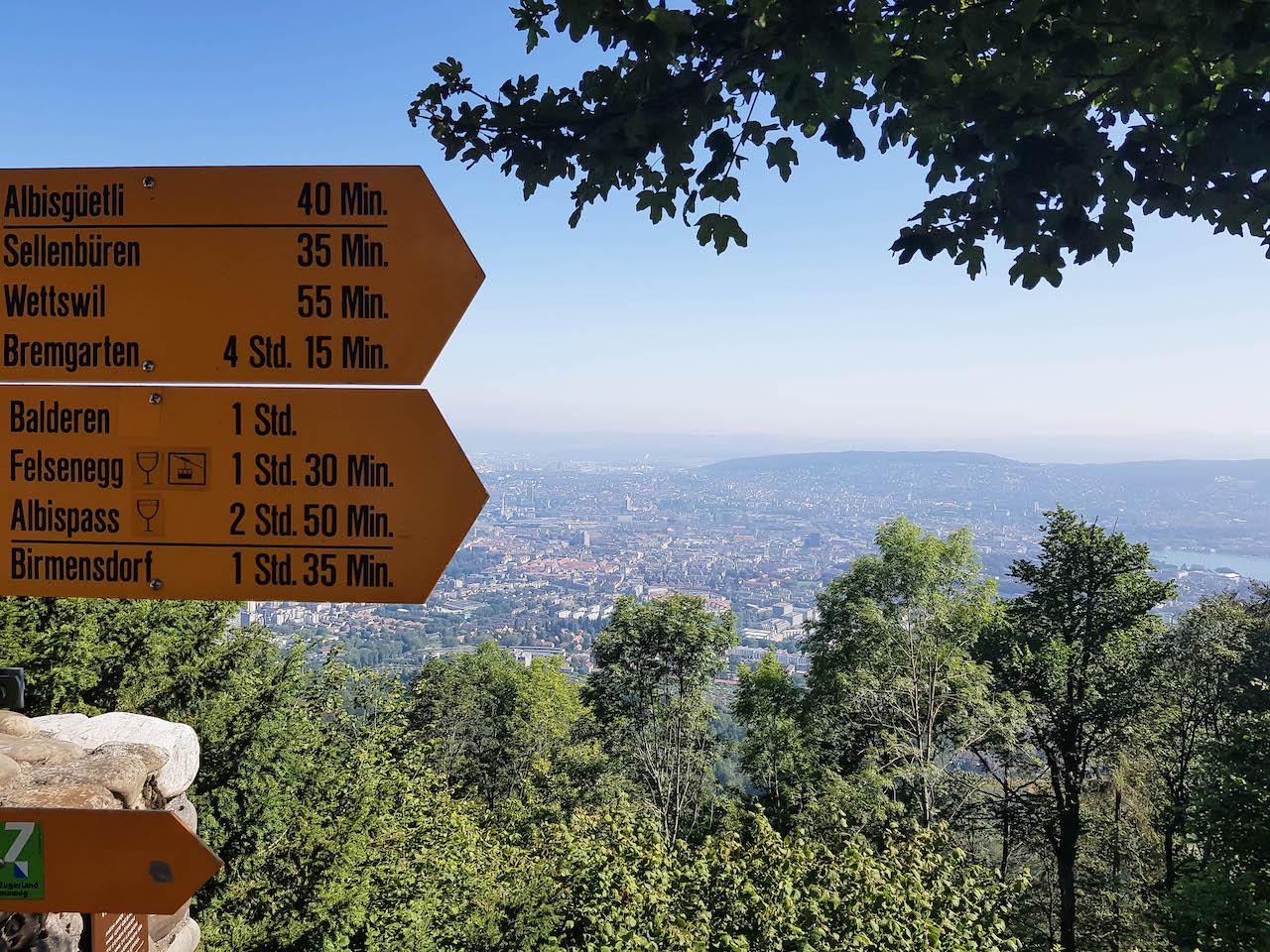 Vom Uetliberg nach Felsenegg und zurück an den Zürichsee.