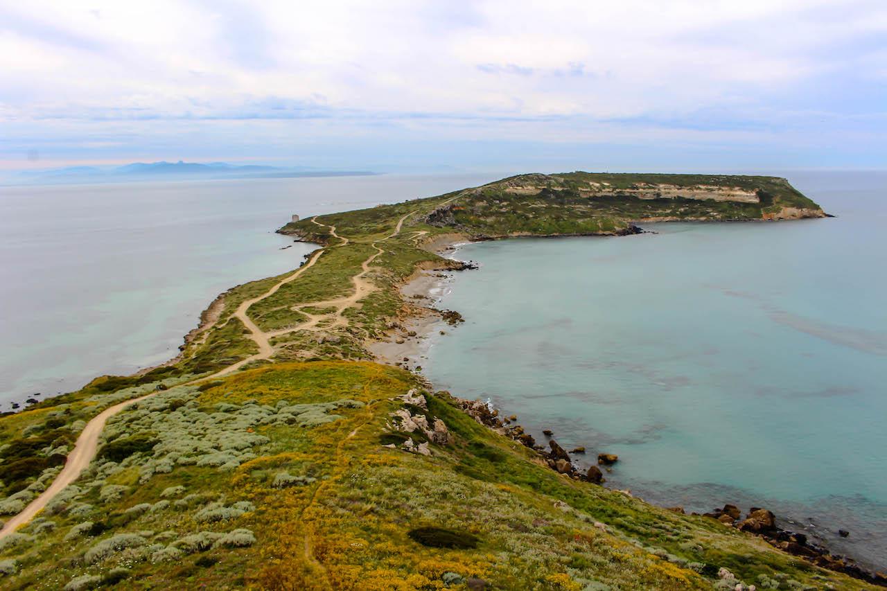 Die Stätte Tharros auf der Sinis-Halbinsel.