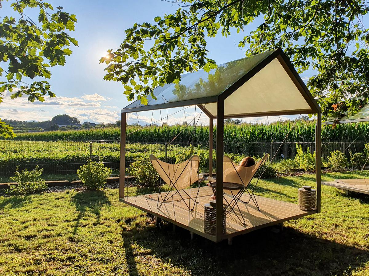 Glamping im Big Berry Resort in Slowenien